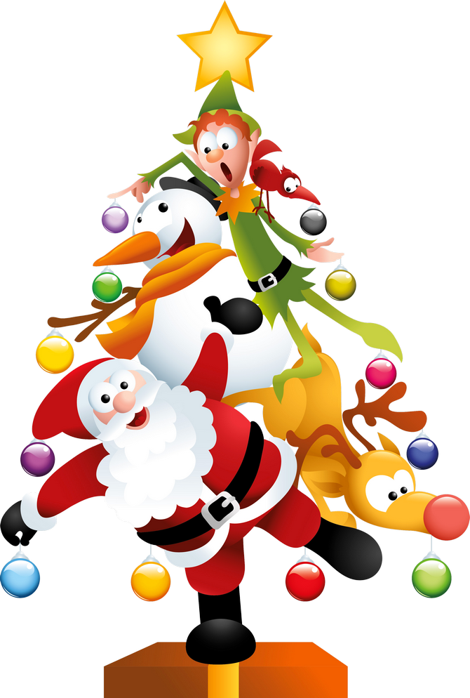 Funny_Transparent_Christmas_Tree_PNG_Clipart